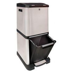 Cubo de reciclaje vertical Iris 3 compartimentos