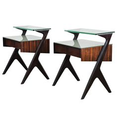 A Pair of Italian Single-Drawer Nightstands | From a unique collection of antique and modern night stands at http://www.1stdibs.com/furniture/tables/night-stands/