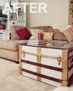 Captain Dapper: Lovely Indeed Gives an Old Trunk New Style Dapper Before & After