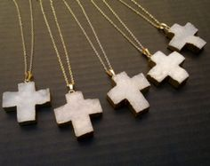 Jewellery by VillainBlondie on Etsy  #necklace #cross #gold #pink #fashion #clothes #girl #tumblr