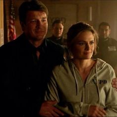 The way he is holding her makes me weak. He's being so protective after what happened, Castle Series, Castle Tv Shows, Best Series, Tv Series, Castle 2009, Castle Abc, Cops Tv Show, Richard Castle, Castle Beckett