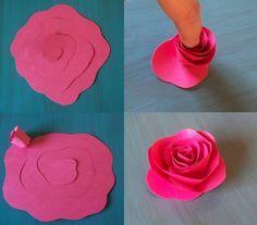 Rose aus Papier selber machen - Anleitung