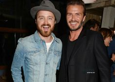 Aaron Paul and David Beckham