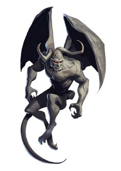 Ashwing Gargoyle - Rise of the Runelords - Pathfinder PFRPG DND D&D 3.5 5th ed d20 fantasy
