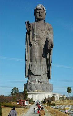 1. Ushiku Daibutsu of Ushiku, Ibaraki Prefecture, Japan Height : 110 m  http://www.tsemrinpoche.com/tsem-tulku-rinpoche/inspiration-worthy-words/52-grand-statues-of-the-world.html