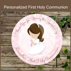 First Holy Communion Favor Tags Printable Pink Communion