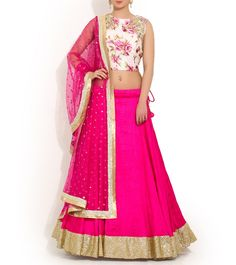 Deepika Chadha's Pink Viscose & Raw Silk Lehenga Set @Looksgud.in #designer #Pink #Beautiful