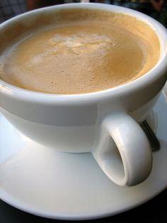 Cafe Creme: 1.5 oz of espresso plus 1 oz heavy cream