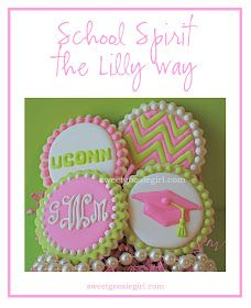 Lilly Pulitzer Inspired Graduation Cookies