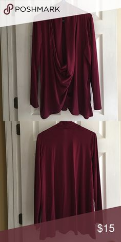 Stunning Tunic in Plum So flattering and perfect for Fall date nights. Flowing neckline is stunning. Size 18/20. NWOT. Smoke-free home. Lane Bryant Tops Tunics