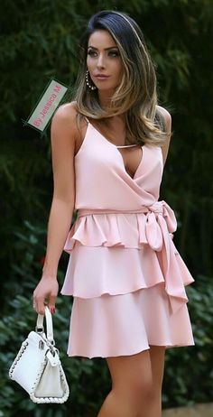 Pretty in Pink 💟 Prom Party Dresses, Evening Dresses, Summer Dresses, Buy Dress, Dress Me Up, Blush Dresses, Short Dresses, Girl Fashion, Fashion Outfits