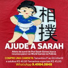 Atleta de sumô de Poá, Sarah Gomes busca recursos para ir ao World Games, na Polônia. WhatsApp 94984-0848