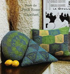 Delicadezas en crochet Gabriela: Almohadas y mantas