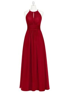 AZAZIE BONNIE. Bonnie is a floor-length chiffon bridesmaid dress in an A-line…