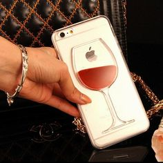 Red Wine Transparent Case for iPhone