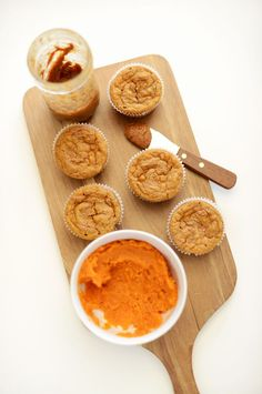 Sweet Potato Almond Butter Muffins Substitute gluten free flour for the whole wheat and SCORE! Allergy friendly muffins!