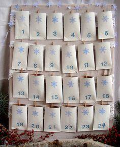 Decorated paper towel tubes advent calendar
