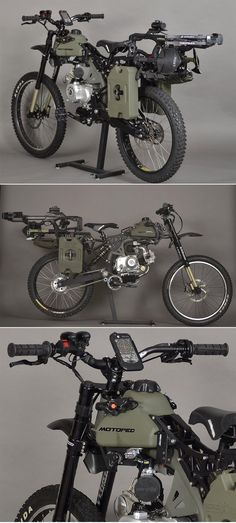 Motopeds Survival Bike : Black Opps Edition - Everything About Off-Road Vehicles E Bike Antrieb, Offroader, Bug Out Vehicle, Motorized Bicycle, Custom Bikes, Survival Gear, Cool Bikes, Cars And Motorcycles, Motorbikes