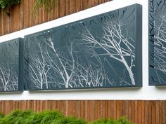 Cutout Entanglement Mild Steel feature poolside panelling Newtown Victoria