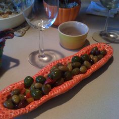 Ceramic olive tray-makes them taste better!