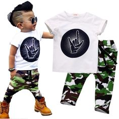 Children Camouflage Pants Outfit Set  #CamouflagePants #KidsOutfit  #Kids