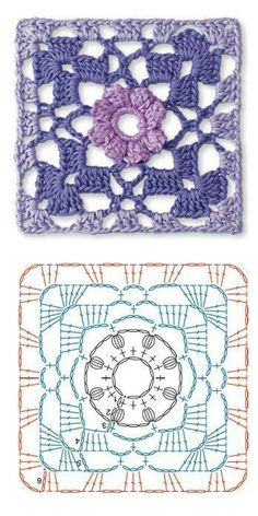 Crochet granny square                                                                                                                                                      Más