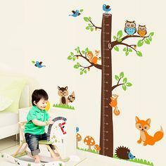 #WALL STICKER CHILDREN HEIGHT #MEASURE -  This product can be attached directly to the walls, window, screens and etc. It is self-adhesive, water & steam resistant Easy to removed - Price £29.99 #Walplus