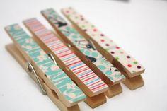 washi tape mollette decorazioni