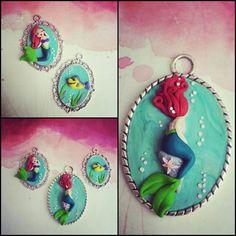 Ariel #littlemermaid #cammeo #handmade #fimo #polymerclay www.frypperi.it www.facebook.com/frypperi