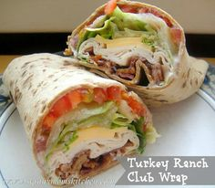 turkey & ranch club wrap