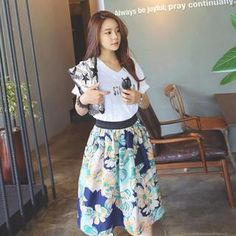 Buy 'REDOPIN – Linen Elastic-Waist Floral Print Skirt' with Free International Shipping at YesStyle.com. Browse and shop for thousands of Asian fashion items from South Korea and more!