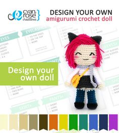 Design Your Own Doll  Amigurumi Crochet  Made by CyanRoseCreations, $48.00