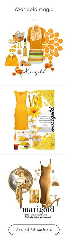 """Marigold magic"" by zouus ❤ liked on Polyvore featuring OPI, Jaeger, Gucci, Chico's, Pantos, VANINA, Memo Paris, Kim Rogers, Tarina Tarantino and Alex Monroe"