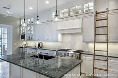 """Luxury Kitchen. House Plan The """"Belcourt""""   Sater Design Collection #houseplans #kitchens"""