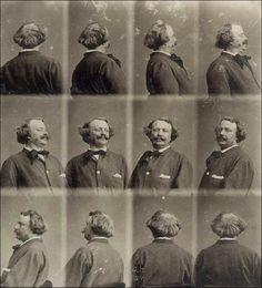 Gaspard-Félix Tournachon (Nadar) · Autoritratto rotante · 1865 ca