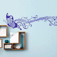 Musica classica ZY033 / viola 45 * 197 centimetri / farfalla di Wall Sticker tappezzeria decalcomanie adesivi -in Wall Stickers da casa e il giardino su Aliexpress.com | gruppo di Alibaba