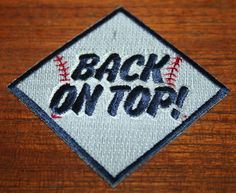 Embroidered Patch - BACK ON TOP! - 1977 New York Yankees - for Sleeve or Hat | Sports Mem, Cards & Fan Shop, Fan Apparel & Souvenirs, Baseball-MLB | eBay!