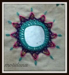 Indian embroidery , shisha work