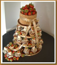 I really love the idea of a cupcake wedding cake...I can't decide on one flavor anyway...