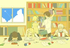 hetalia, this is me studying, and look Belgium is there to keep Spain company