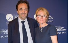 Claude et son époux Frédéric Salat-Baroux