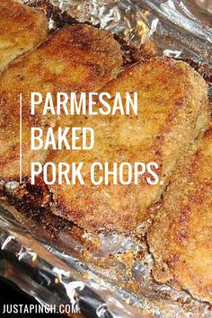 Parmesan Baked Pork Chops The best pork chop recipe you'll ever make for dinner.ever!<br> The Test Kitchen loved this pork chop recipe. The breading kept the chops really juicy and tender. This is a great (and easy) weeknight dinner idea! Crock Pot Recipes, Recipes For Pork Chops, Pork Recipes For Dinner, Quick Pork Chop Recipes, Pork Chip Recipes, Chicken Recipes, Healthy Pork Recipes, Recipes With Pork Cubes, Quick And Easy Recipes