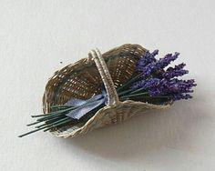 Lavender basket 1/12 scale