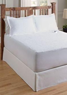 Serta White SERTA SHERPA PLUSH SHEET PROGRAMMABLE HEATED ELECTRIC WARMING MATTRESS PAD QUEEN