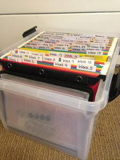 My Father's World Homeschool: Organizing Our Year *Love the file box idea. May have to use that next year.*