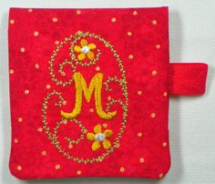 "Post-It Note Holder Project* With Monogram Set and instructions  (27 Designs) * 3.6"" x 7.7"" requires minimum 4"" x 8"" hoop! by ArtisticThreadworks on Etsy"