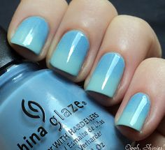 She has a good tutorial on how to do a gradient on your nails. :)