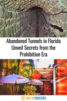 Ybor, Florida has found many traces of the prohibition era, but none are quite like the abandoned tunnels underneath the city. The city is famous for its prohibition stories, which makes Ybor the perfect place to visit for a history buff! Florida City, Swimming Holes, Sunshine State, Ghost Towns, Abandoned Places, Perfect Place, Creepy, Travel Destinations, Places To Visit