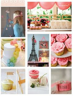 "Parisian theme party for Kaye since she was ""made in Paris""!"