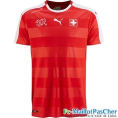 Le Nouveau Maillot du Equipe de Suisse rouge 15 2016 2017 Domicile